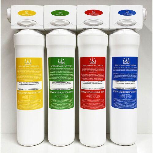 VIZIO Trinkwasserfilter, Wasserfilter system, Hauswasserfilter 4 stadien