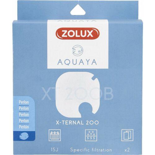 ZOLUX Filter für Pumpe x-ternal 200, Filter XT 200 B perlon x 2. für Aquarium.