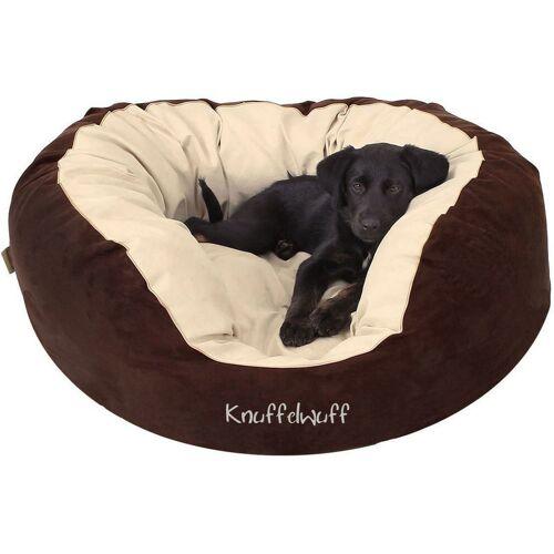 KNUFFELWUFF Hundebett Dooly aus Velours Übergröße XXXL 125 x 115cm - Knuffelwuff