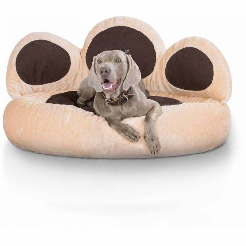 KNUFFELWUFF Pfoten Hundebett Luena aus Velours XL Ø 95cm - Knuffelwuff