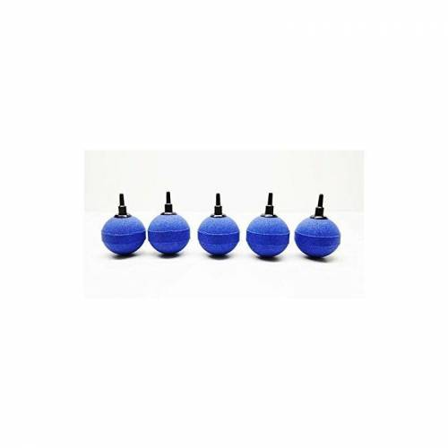 Aquaristikwelt24 - 5 blaue Luftausströmer Kugeln in der Größe 5cm