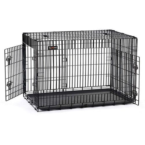 Songmics - FEANDREA Hundekäfig Hundebox Transportbox Drahtkäfig Katzen