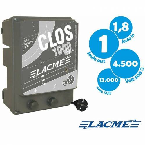 Lacme - Weidezaun-Netzgerät CLOS 1000, 0,7 Joule