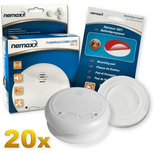 NEMAXX 20x Nemaxx WL2 Funkrauchmelder Rauchmelder Brandmelder Set Funk