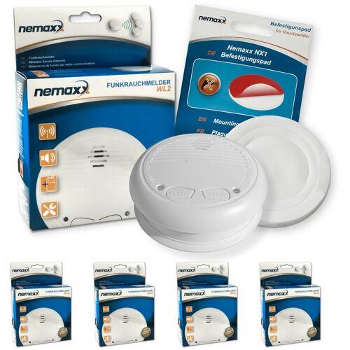 NEMAXX 4x Nemaxx WL2 Funkrauchmelder Rauchmelder Brandmelder Set Funk