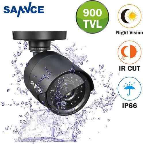 SANNCE 700TVL Analogkamera Bullet Schwarz Indoor Outdoor Wetterfest Home
