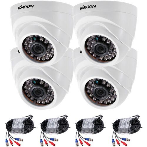 ASUPERMALL 1080P 2000Tvl Hd Dome-Analogkamera Mit 4 24-Led-Infrarotkameras + 4
