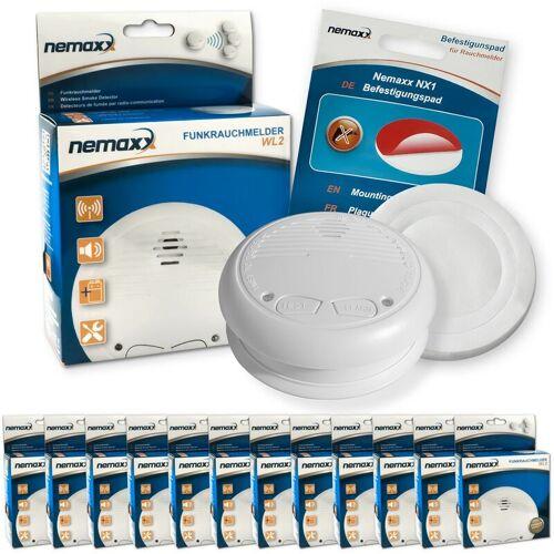 NEMAXX 12x Nemaxx WL2 Funkrauchmelder Rauchmelder Brandmelder Set Funk