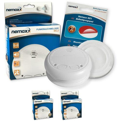 NEMAXX 2x Nemaxx WL2 Funkrauchmelder Rauchmelder Brandmelder Set Funk