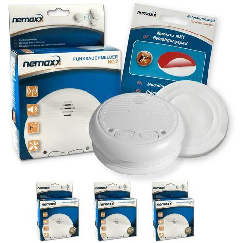 NEMAXX 3x WL2 Funkrauchmelder Rauchmelder Brandmelder Set Funk koppelbar