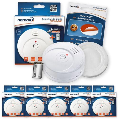 NEMAXX 5x SP Rauchmelder Rauchwarnmelder fotoelektrisch nach DIN EN14604 mit