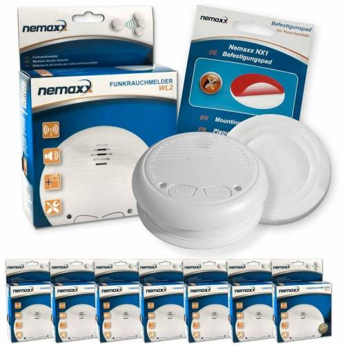 NEMAXX 7x WL2 Funkrauchmelder Rauchmelder Brandmelder Set Funk koppelbar