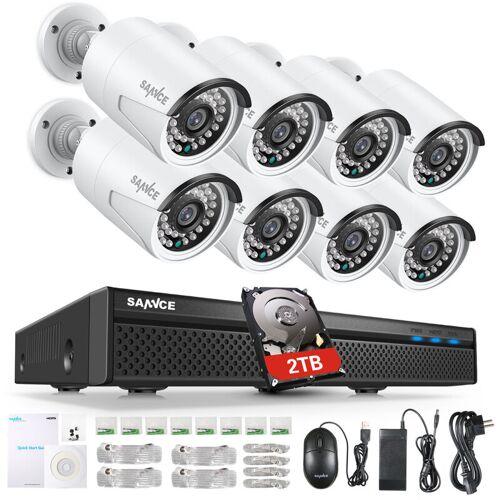 SANNCE 8CH 5MP FHD POE Videosicherheitssystem H.264 + 5MP NVR Mit 8X
