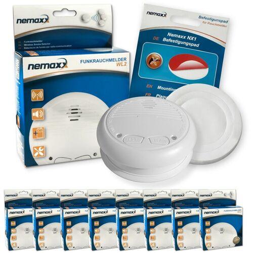 NEMAXX 8x WL2 Funkrauchmelder Rauchmelder Brandmelder Set Funk koppelbar