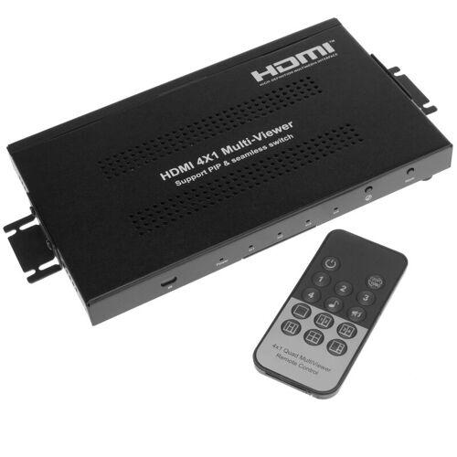 BEMATIK HDMI 4x1 Video Switch mit simultanem Multi-Screen - Bematik