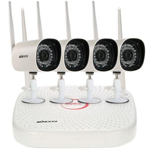 KKMOON Das KKmoon 4CH WiFi HD NVR-uberwachungskit mit 4 wasserdichten