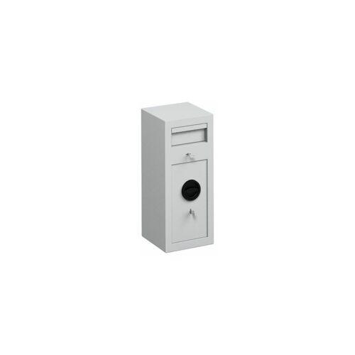 CERTEO Einwurftresor - mit Einwurfklappe - Außen-HxBxT 600 x 250 x 250 mm,