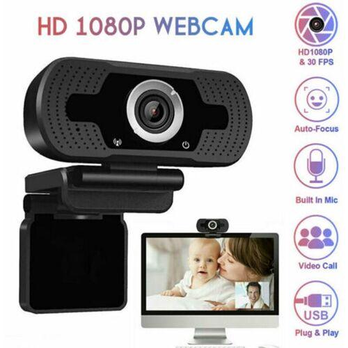 BEARSU Full HD Webcam 1080P Computer PC / Laptop Kamera mit Mikrofon