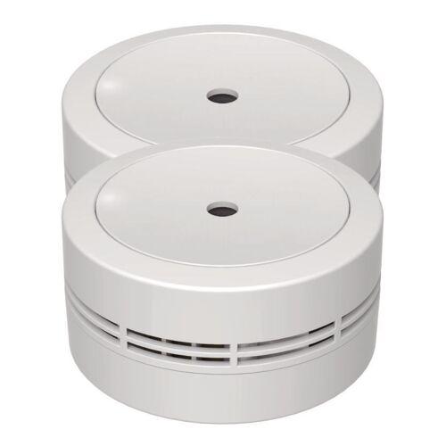 Jeising 2er Set Mini Design Rauchmelder GS535 weiß 10 Jahres Lithium