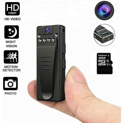 BEARSU Mini Kamera,1080P Tragbare Kleine Überwachungskamera, Mikro Nanny Cam