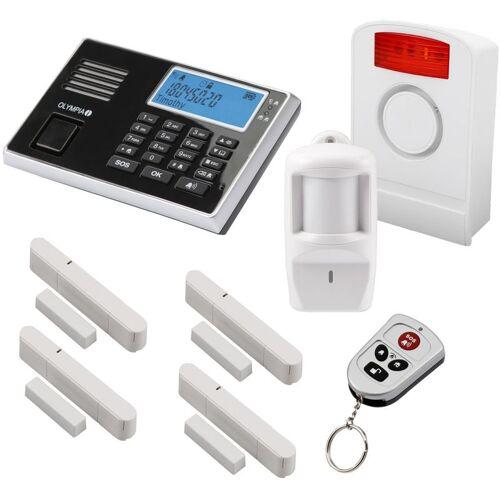 Olympia Protect 9061 GSM Funk Alarmanlagen Super-Set mit Außensirene - Olympia