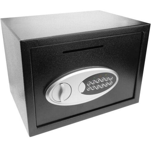 PrimeMatik - Wandtresor Stahl mit Schlüssel Mauertresor Möbeltresor