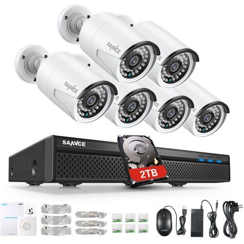 SANNCE 8CH 5MP FHD POE Videosicherheitssystem H.264 + 5MP NVR Mit 6X