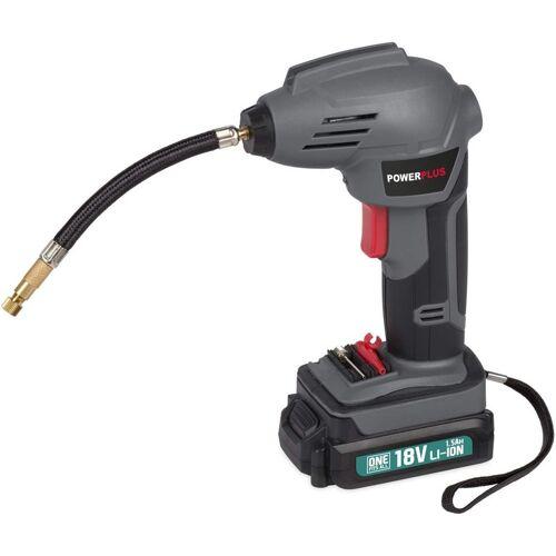 POWERPLUS Akku-Luftdruckpumpe mini Kompressor Akku-Luftpumpe Druckluftpumpe 8 Bar
