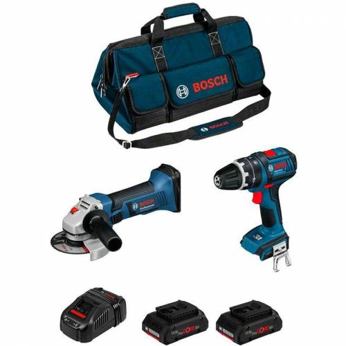 Bosch Kit PSB2M2CP (GWS 18-125 V-LI + GSB 18 V-LI + 2 x 4,0 Ah ProCORE