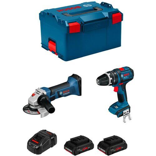Bosch Kit PSL2M2CP (GWS 18-125 V-LI + GSB 18 V-LI + 2 x 4,0 Ah ProCORE