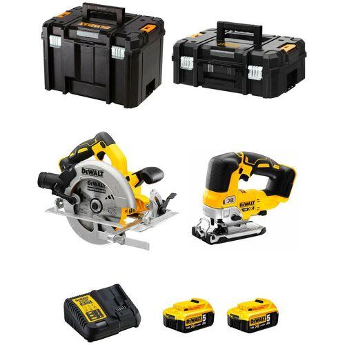 DeWALT Kit DCS570 + DCS334 (2 x 5,0 Ah + DCB115 + TSTAK II + TSTAK VI)