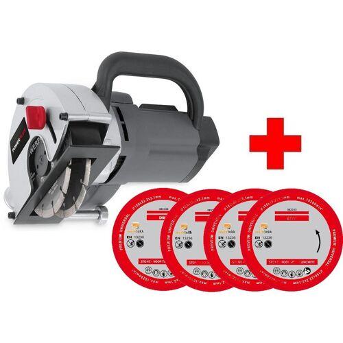 POWERPLUS/WORKTEKK® Powerplus/worktekk ® - Mauernutfräse Mauer-Schlitzfräse inkl.