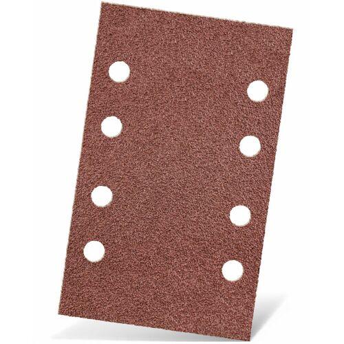 MENZER 50 MENZER Klett-Schleifbögen f. Schwingschleifer, 133 x 80 mm / 8-Loch