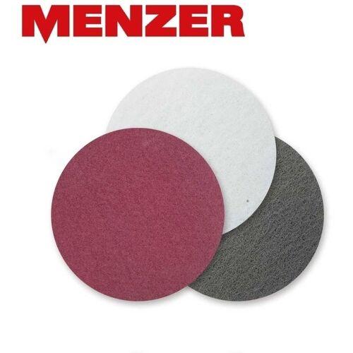 MENZER 10 MENZER Schleifvliese f. Exzenterschleifer, Ø 90 mm / fein /