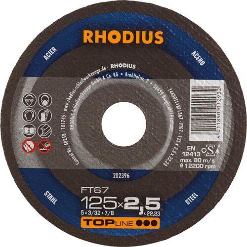 Rhodius Trennscheibe FT67 125 x 2,5mm ger. (Inh. 25 Stück)