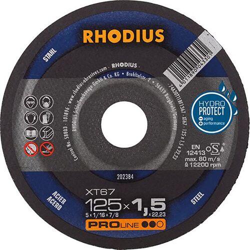 Rhodius Trennscheibe XT67 125 x 1,5mm ger. (Inh. 50 Stück)