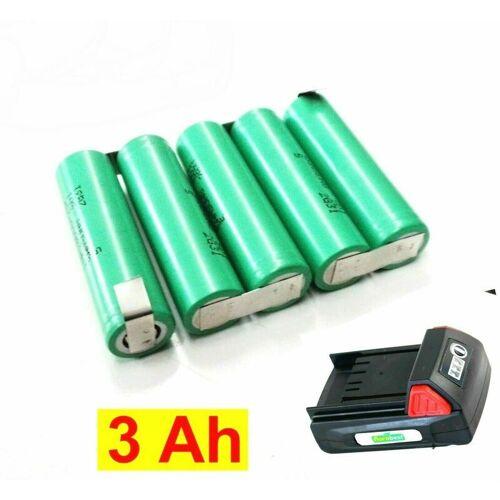 FLORABEST Tauschpack für Florabest Akku 18 V Accu Pack Mocca-LR32-250 mit 3,0 Ah