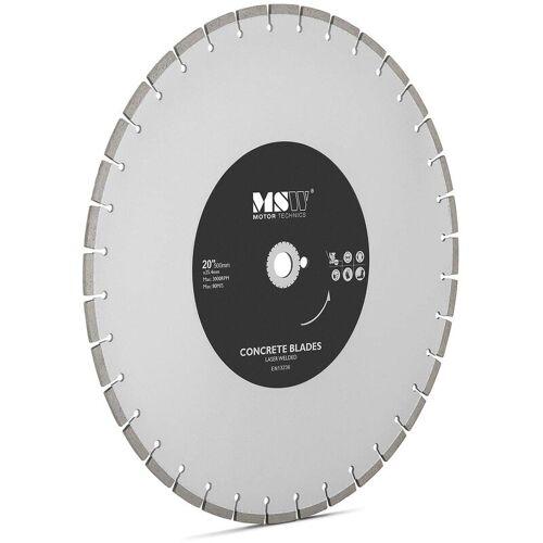 MSW Diamanttrennscheibe 500 mm Trennscheibe Beton Trennscheibe für Fliesen