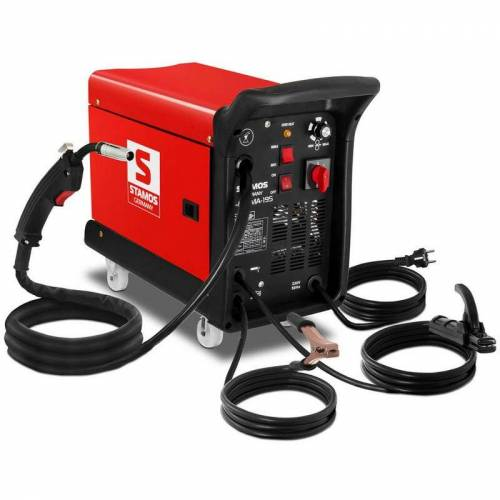 Stamos - Schweißgerät Schutzgas Inverter Kombischweißgerät 4in1 MIG MAG