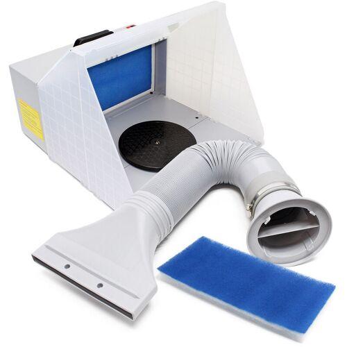 Wiltec - Airbrush Absauganlage 3m³ / min Komplett Set Farbnebel