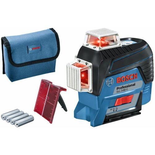 Bosch - Linienlaser GLL 3-80 C. mit 4 x 1.5-V-LR6-(AA)-Batterien
