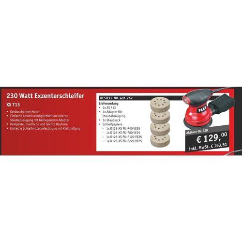 FLEX Exzenterschleifer XS 713 + Schleifpapier (Aktion) #481.262 - Flex