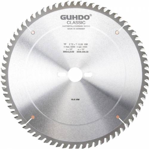 GUHDO HW-Format-Kreissägeblatt 250x3,2x30 mm Z80 TF