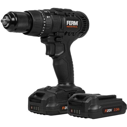 FERM industrielle kabellose Schlagbohrmaschine – FI20V – 50Nm – 4-poliger