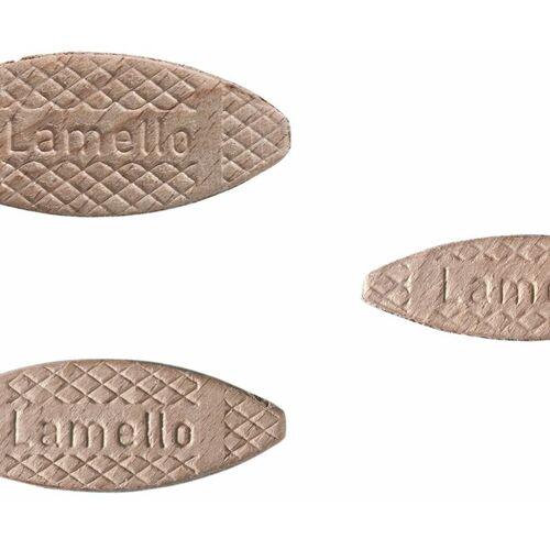 LAMELLO VERBINDUNGSTECHNIK Lamello Holzlamellen gemischt 1000 Stück aus massivem Buchenholz