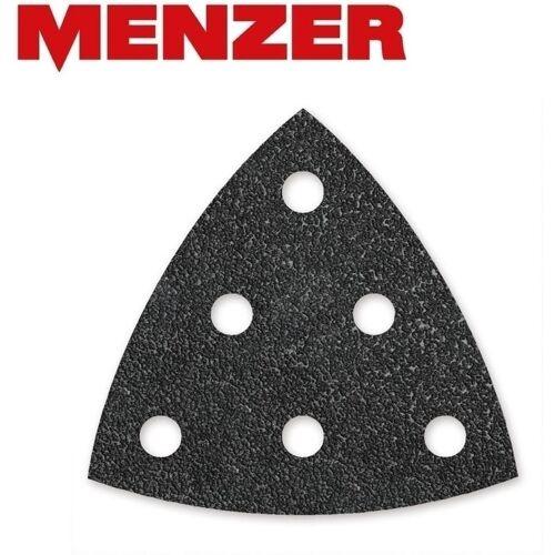 MENZER 50 MENZER Klett-Schleifblätter f. Deltaschleifer, 93 mm / 6-Loch / K80