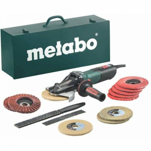 Metabo - Flachkopf-Winkelschleifer WEVF 10-125 Quick Inox Set ();