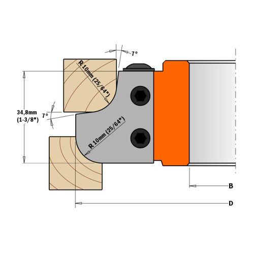 Cmt Orange Tools - 695.007.12 PAAR MESSER FÜR MULTIPROFIL-MESSERKÖPFE