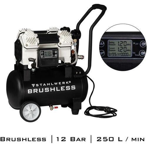 STAHLWERK Brushless Druckluft Kompressor ST-1220 BL, Flüsterkompressor