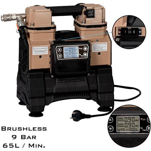 STAHLWERK Brushless Flüsterkompressor, Druckluft-Kompressor mit 500 W, modernste
